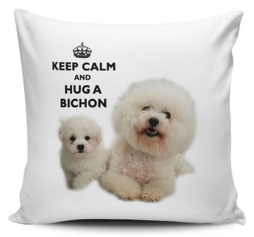 Keep Calm And Hug A Bichon Cushion Cover